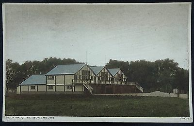 Old Postcard - The Boathouse, Bedford - 1929