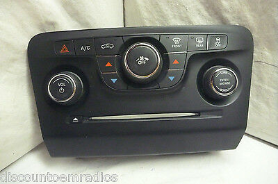11-14 Dodge Charger Radio Climate Control Panel 1QH08DX9AE JN291