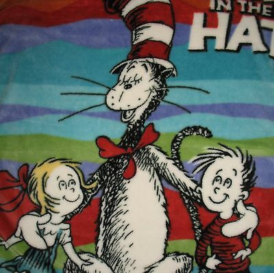 """The Cat in the Hat Blanket Plush Throw Dr. Seuss 42"""" x 56"""""""