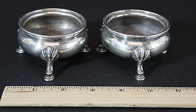 Pair Antique Circa 1900, Black Starr & Frost, Sterling Silver Salts, NR