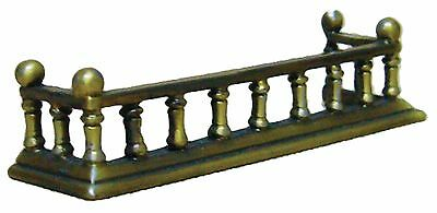 "1/12Th Scale Dolls House ""antique"" Brass Fireplace Fender"