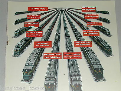 1948 PENNSYLVANIA Railroad advertisement, Diesel Powered passenger train sets