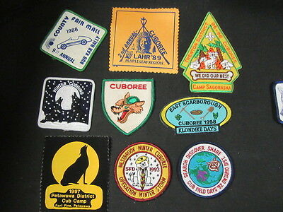 Scouts Canada 12 Cub Scout Program Patches    FX