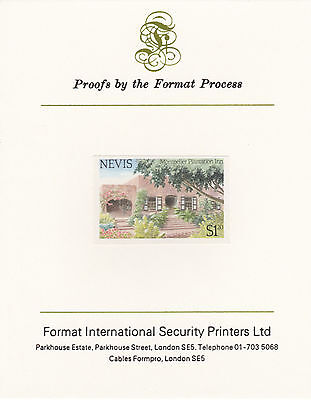 Nevis 4359 - 1985 TOURISM $1.20 IMPERF on FORMAT INTERNATIONAL PROOF CARD