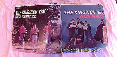 KINGSTON TRIO   FOLK joblot 2 MONO LP VINYL RECORD Weavers Pete Seeger Dylan