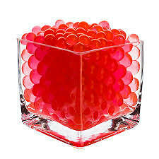Water Absorbing Gel Beads Event Vase Decorations - Red by PK Green