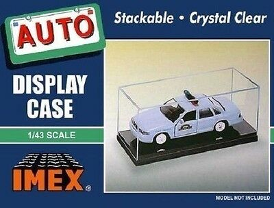 Imex 1:43 Clear Top with Black Base Display Case,  2 per pack