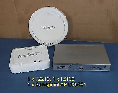 3 x SONICWALL units as a lot TZ210, TZ100 and SonicPoint-N