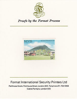 Nevis 4361 - 1985 TOURISM $1.20 IMPERF on FORMAT INTERNATIONAL PROOF CARD