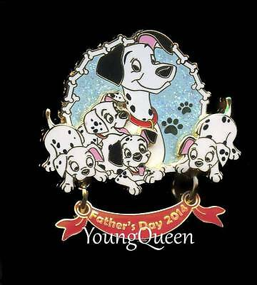 Disney 101 Dalmatians Father's Day 2014 Pongo with Puppies Dangle Le Pin