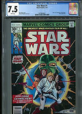 Star Wars #1   (1st print)   CGC 7.5  White Pages