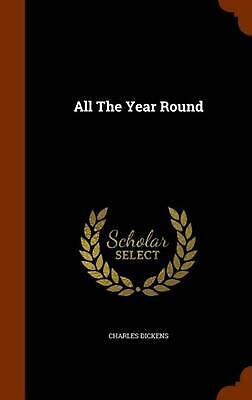 All the Year Round by Dickens (English) Hardcover Book Free Shipping!