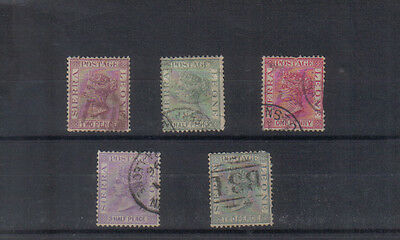 Sierra Leone Q Victoria 1883-91 Five values to 2d used