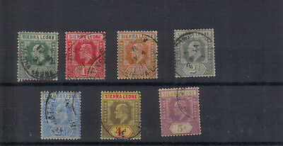 Sierra Leone Edward VII 1907-12 Seven values to 5d used
