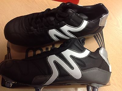 Brand New Mitre Italia Ii Mid Rugby Boots Size 5
