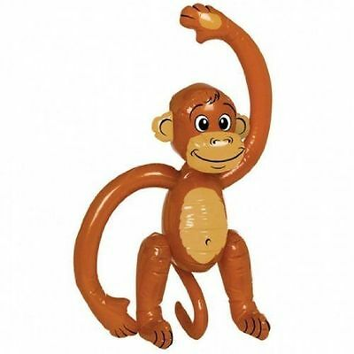 Blow-up Monkey Inflatable Kid's Party toy Animal Jungle Fun Fancy Dress hen stag