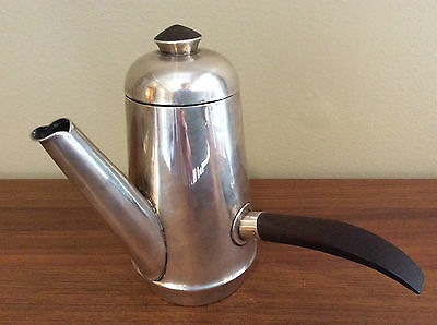 William SPRATLING Design Sterling Silver Rosewood Demi Tasse COFFEE POT Mexico