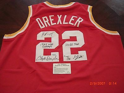 68c138647 100% AUTHENTIC CLYDE The Glide Drexler Soul Swingman Rockets Jersey ...