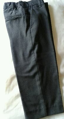 Boys smart grey school trousers with adjustable waist size 4yrs