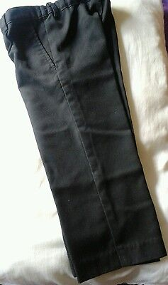 Boys smart black school trousers with adjustable waist size 3yrs