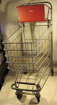 Vintage Antique 1949 Chatillon Original Grocery Store Shopping Cart Complete USA