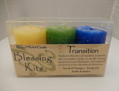 TRANSITION Candles Coventry Creations BLESSING KIT Magick Wicca Pagan votives