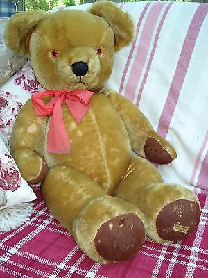 "Very Large Vintage Merrythought Teddy Bear 30"" Tall"