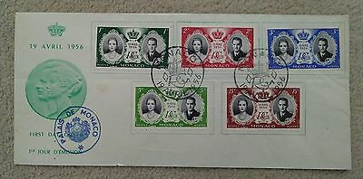 Monaco 1956 Royal Wedding First Day Cover - FDC