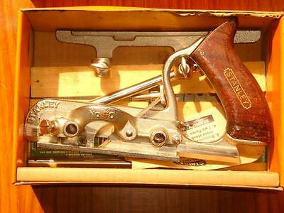 Stanley No 50 combination plane, with full boxed set of 17 cutters MINT IN BOX