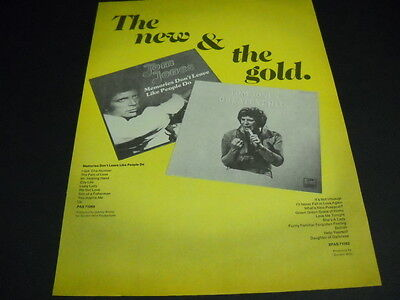 TOM JONES The New & The Gold original 1975 PROMO POSTER AD mint condition