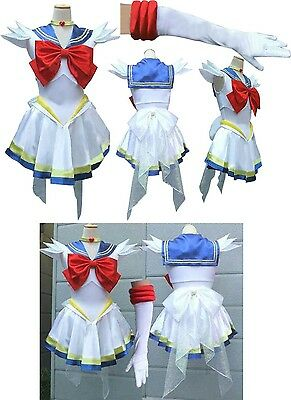 Super Sailor Moon Usagi Marinaretta Costume Vestito Cosplay Donna Guerriera New