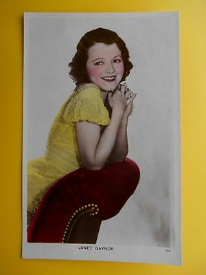 JANET GAYNOR Actress Cinema Movie TV Star - Picturegoer Colourgraph RP c1930s