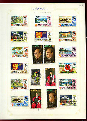 Jersey 1969-70 Album Page Of Stamps #V4970