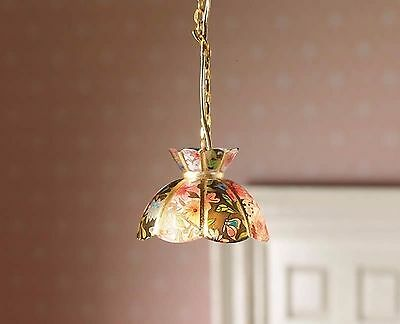"1/12Th Dolls House Floral ""tiffany"" Style Ceiling Light"