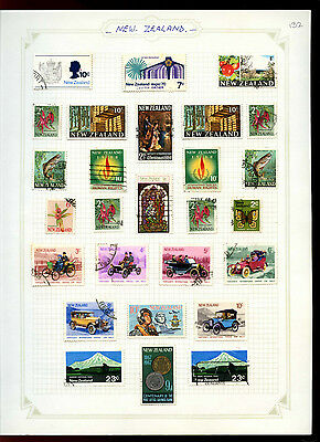 New Zealand Album Page Of Stamps #V5013