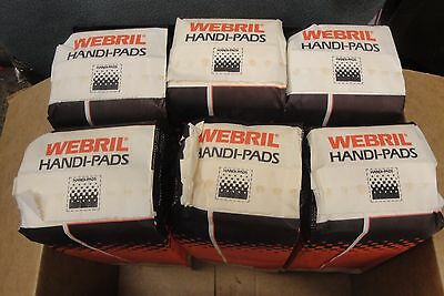 Case Of 6 NEW UNOPENED Webril 4 x 4 Cotton Handi Pads, 100/package