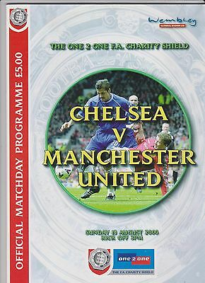 2000 F.A.Charity Shield.Chelsea v Manchester United.