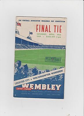 1949 F.A.Cup Final.Leicester City v Wolverhampton Wand.