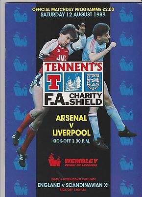 1989 F.A.Charity Shield.Arsenal v Liverpool.