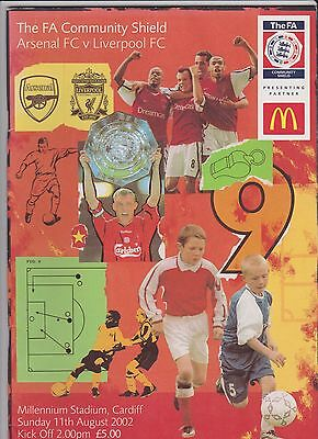 2002 F.A.Charity Shield.Arsenal v Liverpool.