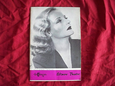 "1948 Playbill ""private Lives"" Biltmore Theatre New York  Tallulah Bankhead"