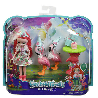 Enchantimals Doll and Animal Theme Set - Let's Flamingle - Pre Order 7/7/17