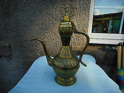 Antique Large Middle Eastern Islamic Dallah Coffee pot With Arabic Calligraphy