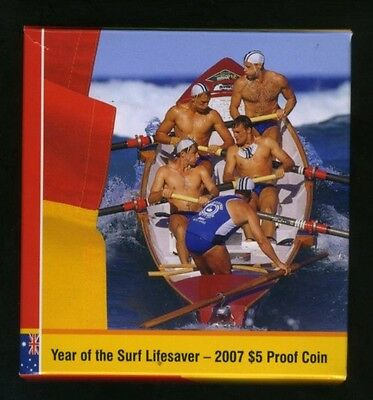 2007 Australian $5 1oz Silver Proof - Year of the Lifesaver