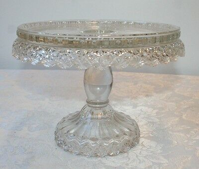 EAPG Dalzell Gilmore & Leighton Cake Stand with Well Daisy Button Petticoat