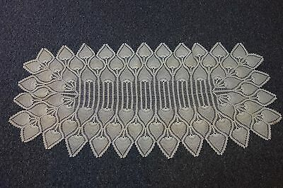 "1930's Crocheted Cream Runner-21""x44""- Pineapple Pattern- LACY & ELEGANT- SALE"