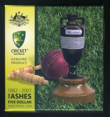 2007 Australian Ashes Silver $5 Proof Coin