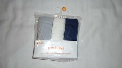 NEW Boys Size M 7-8 Gymboree Underwear Underpants 3-Pack Gray Blue White NWT