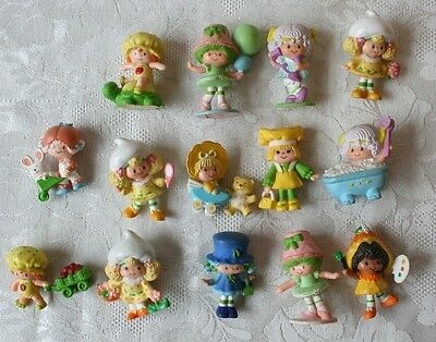 Vintage Lot 14 Strawberry Shortcake Jelly Bean Dolls PVC  AGC 1981 1982 Lanard