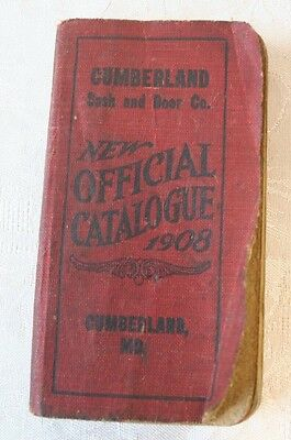 1908 Architectural Catalogue Cumberland MD Sash & Door Art Glass Window Mantel
